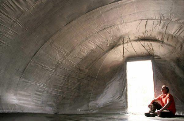 Палатка из Concrete Canvas