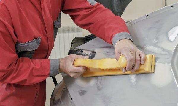 Шлифование кузова с помощью рубанка