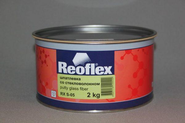 Шпатлевка со стекловолокном Glass Fiber Reoflex
