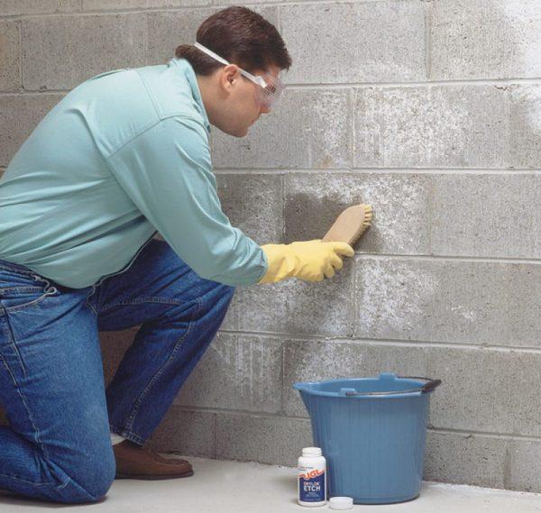 Вымыв бетона от высолов