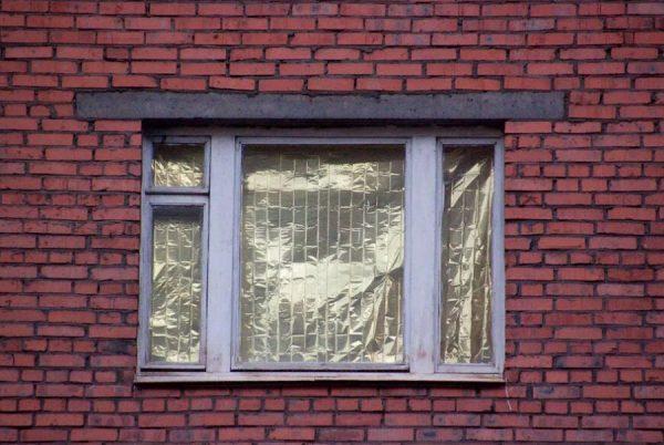 Фольга на окна от солнца