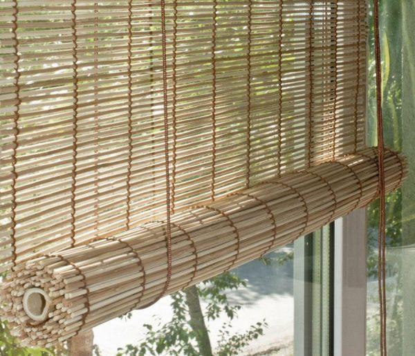 Жалюзи соломка бамбуковая