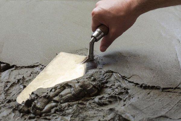 Замес художественного бетона