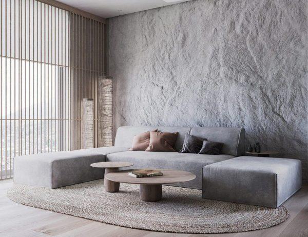 Применение арт-бетона в интерьере