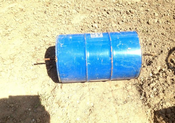Барабан для газонного катка из бочки