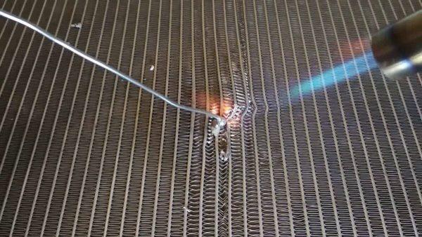 Пайка алюминиевого радиатора