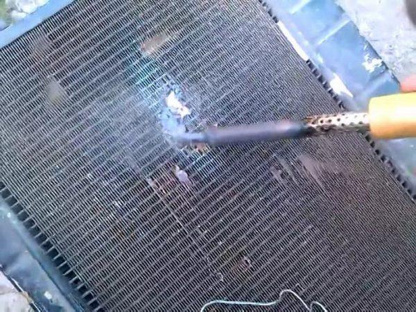 Ремонт алюминиевого радиатора паяльником