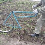 Ручной культиватор из велосипеда
