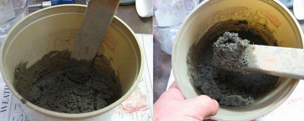 Цементный раствор для заливки