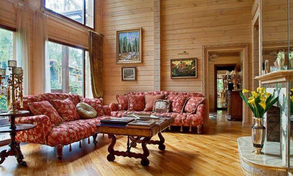 Загородный дом Олега Табакова - гостиная