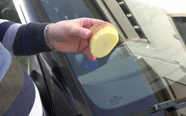 Картофель как средство от запотевания