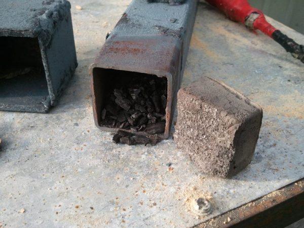 Обработка стали в ящике в домашних условиях
