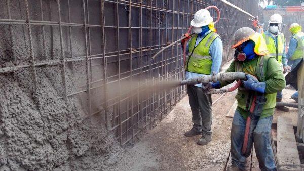 Торкретирование трещин в бетоне