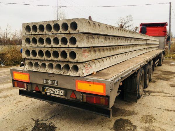 Транспортировка бетонных плит