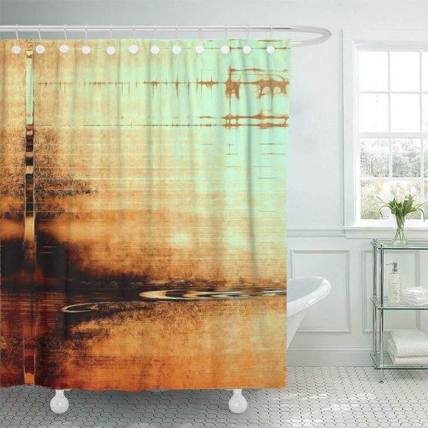Грязная шторка в ванной комнате