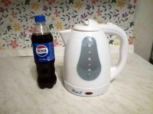Газировка для очистки чайника от накипи