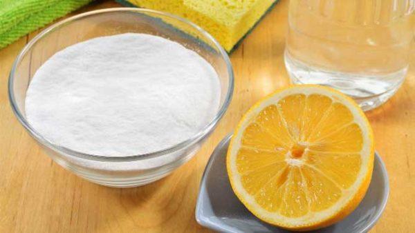 Смесь уксуса, соды и лимонной кислоты