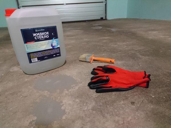 Пропитка бетона жидким стеклом