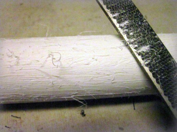 Создание глубоких борозд напильником