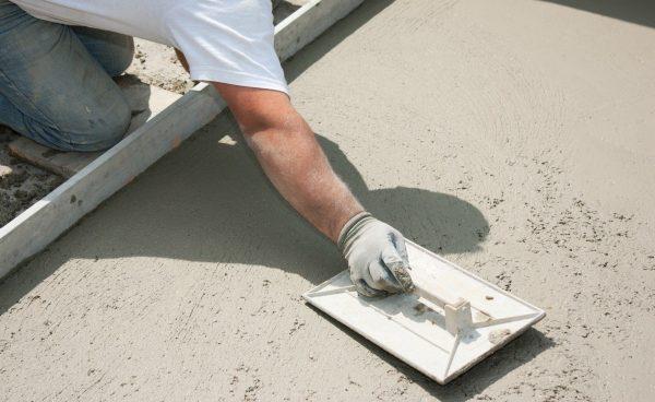Сухое железнение цементом