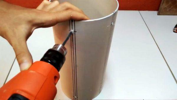 Обрезка канализационной трубы