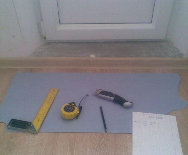 Подготовка поверхности для укладки порога