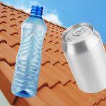 Черепица из пластиковых бутылок и алюминиевых банок