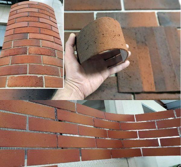 Гибкий клинкерный кирпич для фасада