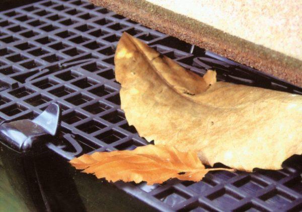 Пластиковый экран от листьев