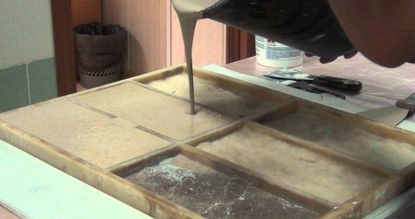 Изготовление гипсового мрамора