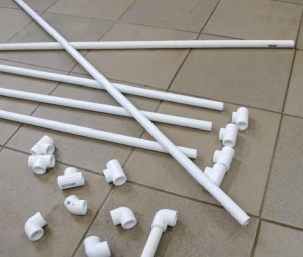 Изготовление конструкции из труб ПВХ