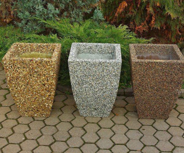 Вазоны из бетона и мраморной крошки