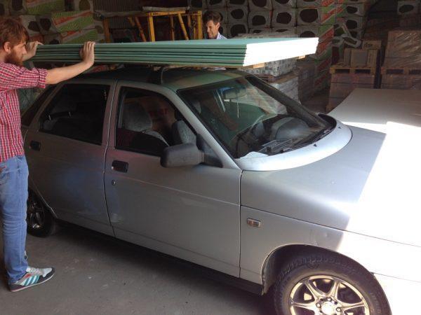 Гипсокартон на крыше авто