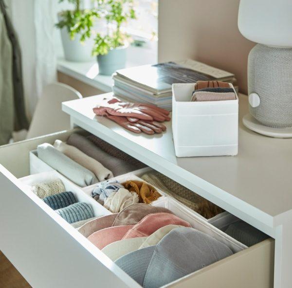 Коробки для хранения одежды в комодах