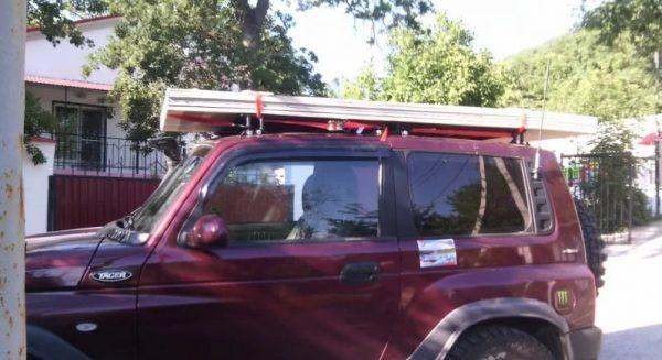 Крепление ГКЛ на крыше авто