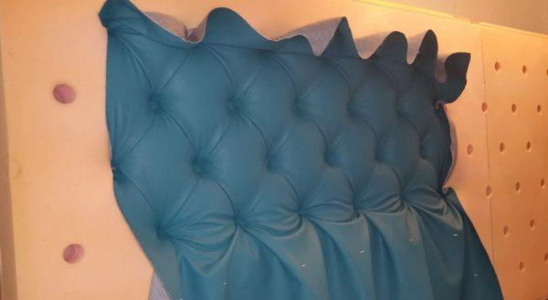 Обшивка поролона тканью