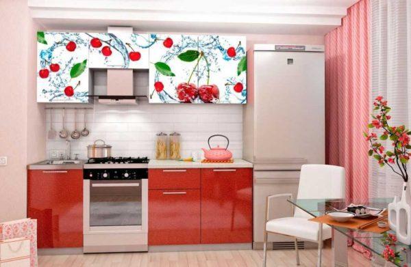 Оклейка фасада кухни самоклеящейся пленкой