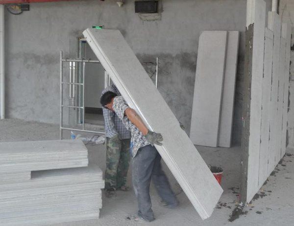 Перегородки из легкого бетона