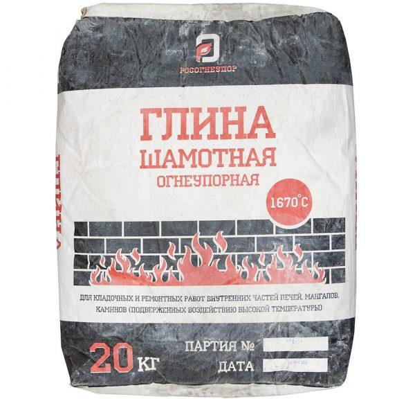 Шамотная глина КБС 20 кг