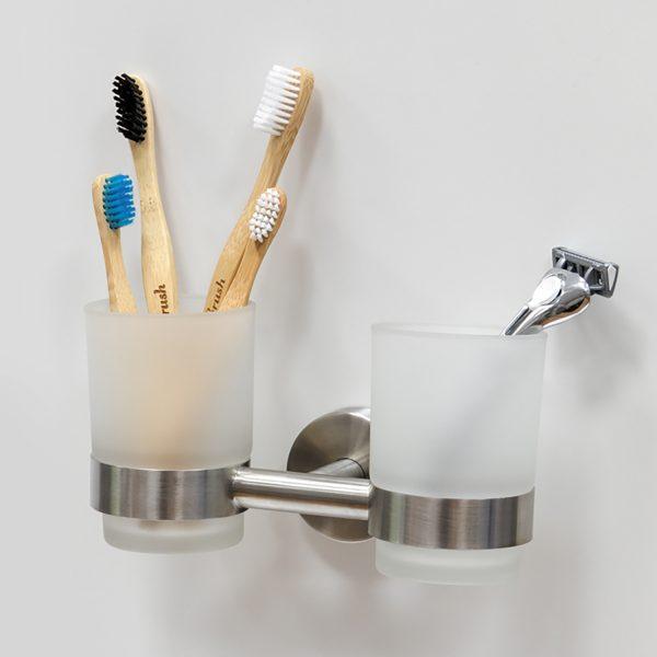 Стакан для зубных щеток двойной