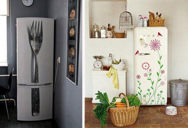 Варианты декора холодильника