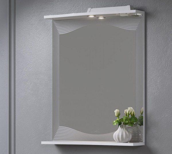 Зеркало для ванной с полочкой