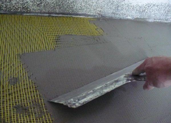 Армировочная сетка для наливного пола