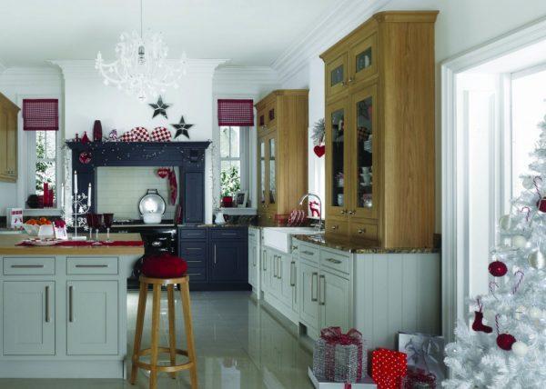 Декорирование кухни на новогодние праздники