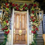 Новогоднее украшение двери