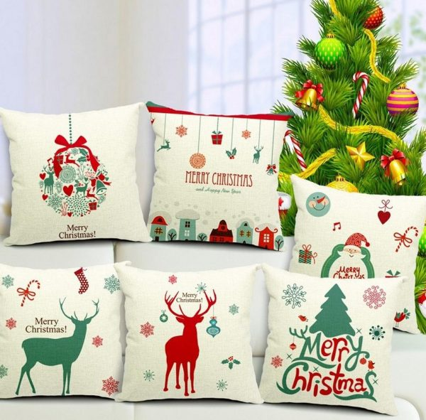 Новогодний декор подушек