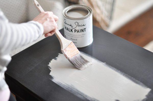 Окрашивание меловыми красками