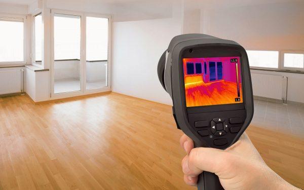 Проверка окна тепловизором