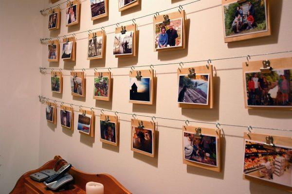 Развешивание фотографий на стене
