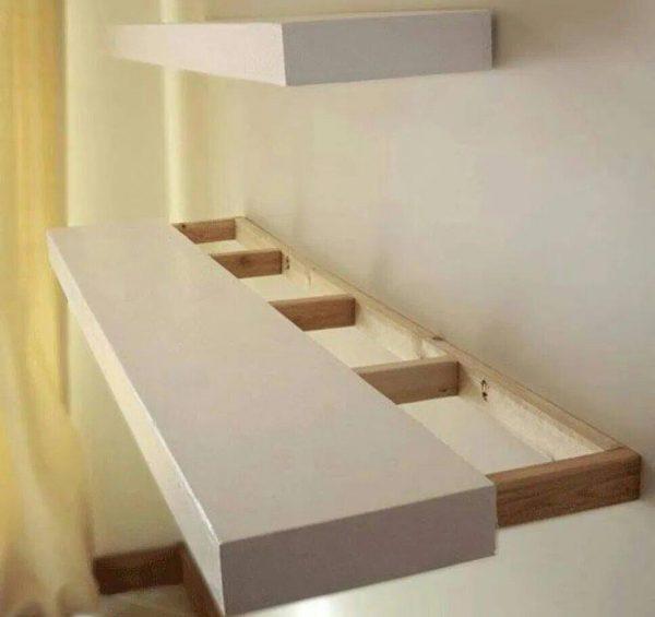 Способы установки полок на стену